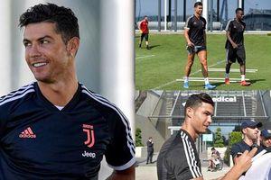 Cristiano Ronaldo trình làng diện mạo khác lạ khi trở lại Juventus