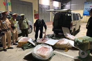 Tiêu hủy trên 700 kg nầm lợn nhập lậu ở Lạng Sơn