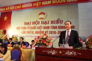 Đưa công tác Mặt trận tỉnh Bình Định lên bước phát triển mới