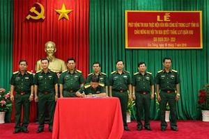 Bộ CHQS tỉnh Sóc Trăng thi đua thực hiện văn hóa công sở