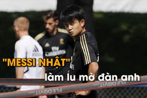 'Messi Nhật' làm lu mờ Hazard, Bale, Benzema trên sân tập Real
