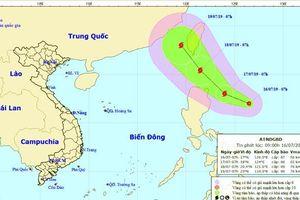 Xuất hiện áp thấp nhiệt đới giật cấp 9 gần Biển Đông