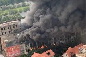 Hà Nội: Cháy lớn gần Khu du lịch Thiên đường Bảo Sơn