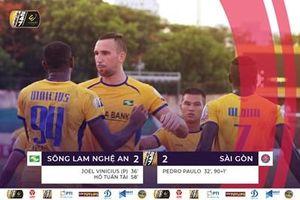 Sông Lam Nghệ An đánh rơi chiến thắng ở phút cuối