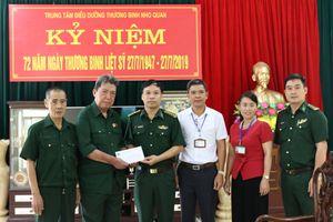 Thăm, tặng quà tại Trung tâm Điều dưỡng thương binh Duy Tiên, Kim Bảng và Nho Quan