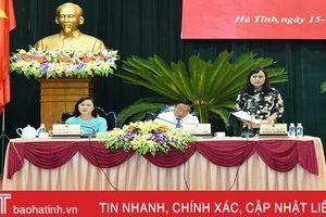 HĐND tỉnh Hà Tĩnh hoàn thành phiên thảo luận tại hội trường