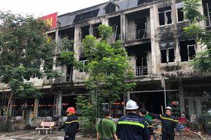 Những căn biệt thự liền kề tại Geleximco An Khánh đen kịt sau đám cháy