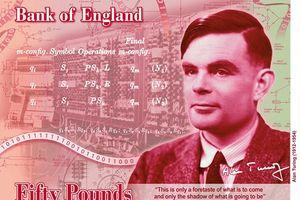 Thiên tài mật mã Alan Turing xuất hiện trên đồng 50 bảng