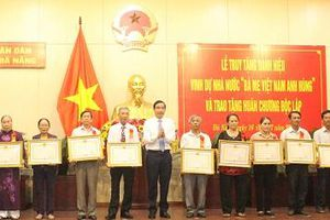 Đà Nẵng: Truy tặng danh hiệu Bà mẹ Việt Nam Anh hùng và trao tặng Huân chương Độc lập cho các gia đình có công