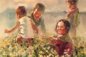 Cảm nhận tiếng reo vui của tâm hồn trẻ thơ trong 'Địu chữ qua Cổng trời'