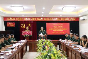 Hội nghị Đảng ủy Cục Kỹ thuật BĐBP 6 tháng đầu năm 2019