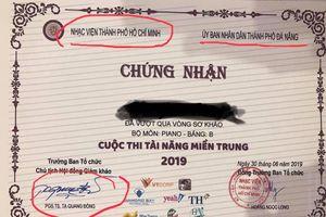 Thu hồi giấy chứng nhận mạo danh UBND TP.Đà Nẵng