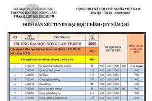 Điểm sàn xét tuyển Đại học Nông lâm TP.HCM 2019
