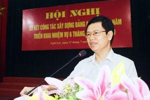 Phó Bí thư Thường trực Tỉnh ủy đề nghị Nghi Lộc đảm bảo đúng lộ trình sáp nhập xã, xóm