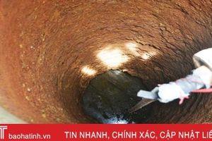 Giếng trơ đáy, 500 hộ dân Hà Linh lấy nước sạch từ đâu?