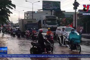 Mưa lớn gây khó khăn cho giao thông tại Bình Phước