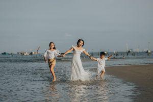 Thái Thùy Linh đưa 2 con vào MV sắp phát hành 'Đi để trở về'