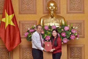 Bà Mai Thị Thu Vân giữ chức vụ Phó Chủ nhiệm Văn phòng Chính phủ