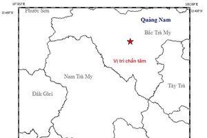 Động đất 3,8 độ richter tại huyện Bắc Trà My