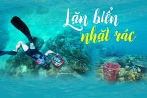 Lặn biển nhặt rác
