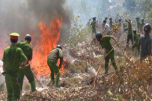 Công nhân đốt rác gây cháy rừng, cả trăm cảnh sát, kiểm lâm dập lửa