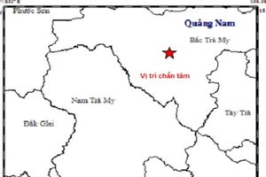 Quảng Nam xảy ra động đất mạnh 3,8 độ richter ở huyện miền núi