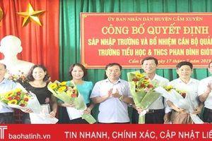 2 trường học đầu tiên ở Cẩm Xuyên sáp nhập theo Nghị quyết 96 HĐND tỉnh