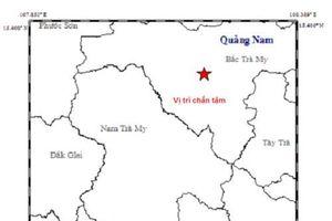 Quảng Nam: Động đất 3,8 độ Richter rung chuyển Bắc Trà My