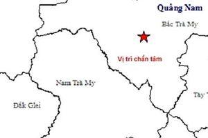 Xảy ra động đất mạnh tại miền núi Quảng Nam
