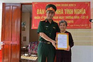 Trao nhà tình nghĩa tặng thân nhân liệt sĩ trên địa bàn tỉnh Quảng Ngãi