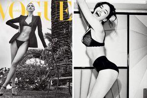 Sau ôm trai lạ hậu chia tay Bradley Cooper, Irina Shayk khoe dáng thần vệ nữ