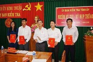 Ban Bí thư chuẩn y Ủy viên và Phó Chủ nhiệm UBKT Tỉnh ủy Bình Thuận