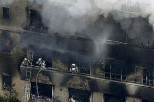 Hiện trường vụ cháy xưởng phim Kyoto Animation tại Nhật Bản