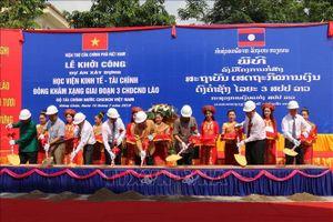 Việt Nam giúp xây Học viện Kinh tế-tài chính cho Lào