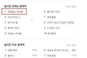 10 phút trước khi phát sóng chung kết, 'Produce X 101' đứng đầu xếp hạng tìm kiếm ở Hàn