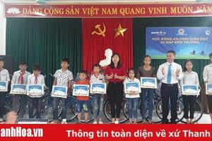 Bảo Việt Nhân thọ trao 10 xe đạp cho trẻ em nghèo hiếu học tại huyện Vĩnh Lộc