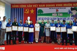 Thí sinh Trần Thị Trang đạt giải nhất Hội thi 'Báo cáo viên cấp tỉnh của Đoàn' năm 2019
