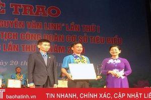 Chủ tịch công đoàn cơ sở Hà Tĩnh được vinh danh toàn quốc