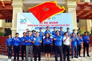 Khẩu hiệu 'Mùa hè xanh 2019' của Hội Sinh viên Đại học Thái Nguyên
