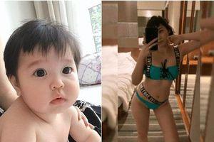 Cuối tuần của các hot mom: Nhóc Sam bị mẹ Hằng Túi hí hửng 'đảo ngói', Ngọc Mon diện bikini khoe dáng bốc lửa