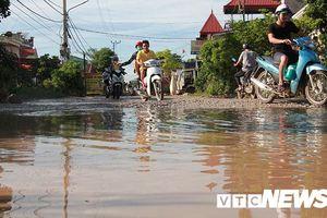 Đường giao thông biến thành đầm lầy, UBND TP Hải Phòng chỉ đạo kiểm tra