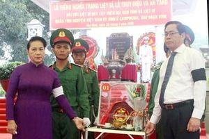 Chủ tịch Quốc hội Nguyễn Thị Kim Ngân dự Lễ truy điệu, an táng HCLS tại tỉnh Tây Ninh