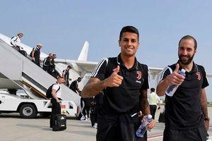 Các cầu thủ Juventus đến Trung Quốc để chuẩn bị cho trận derby Serie A
