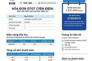 Khách hàng kêu hóa đơn tiền điện khó hiểu, EVN công bố mẫu hóa đơn mới