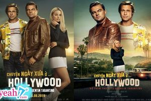 'Chuyện ngày xưa ở ... Hollywood' tung poster góp mặt bộ ba ngôi sao biểu tượng của Hollywood