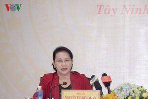 Chủ tịch Quốc hội làm việc với lãnh đạo tỉnh Tây Ninh
