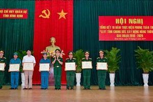 Bộ CHQS tỉnh Bình Định vận động người dân hiến hơn 11 nghìn m2 đất xây dựng nông thôn mới