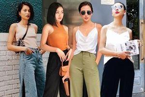 3 chiêu mix quần ống loe sành điệu như quý cô thời trang Việt