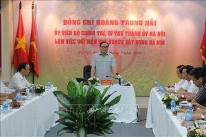 Bí thư thành ủy Hà Nội Hoàng Trung Hải: Không để người dân phải bất ngờ về quy hoạch