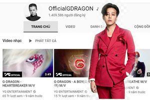 Cộng đồng V.I.P xôn xao: Kênh Youtube G-Dragon sở hữu hơn 1,4 triệu follow dù không… đăng tải video nào!